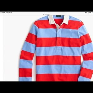 J crew women's 1984 rugby shirt in stripe